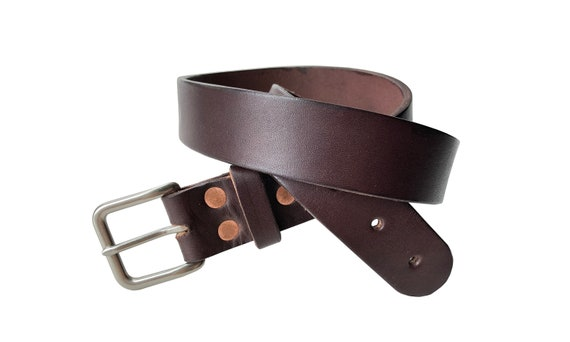 """1.25/"""" AMISH MADE IN THE USA GOLDEN BROWN BRIDLE LEATHER BELT//BRASS BUCKLE"""