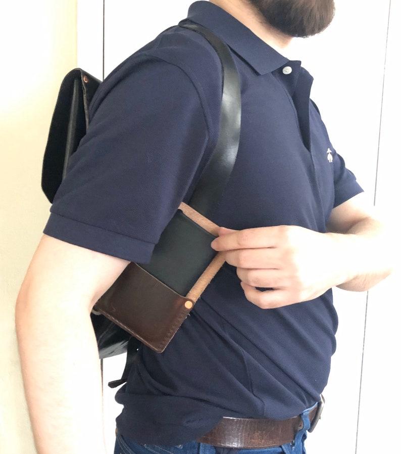 Full Grain Leather VersaCase Phone Holster for Belt and Backpack