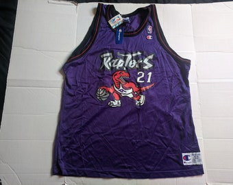 27c39d7cd71 Vintage 90s NWT Champion NBA Ontario Raptors Marcus Camby Basketball Jersey  size 52 XXL
