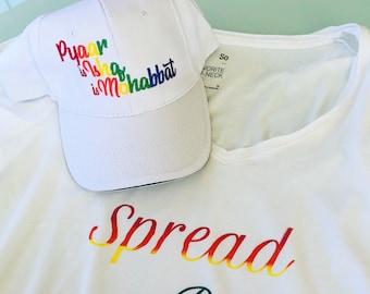 Desi Pride Hat, Indian LGTBQ Hats, Pyaar is Ishq is Mohabbat, South Asian Hats, pride,