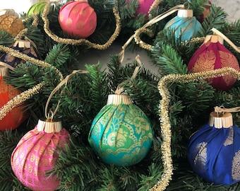 Saree Ornaments, Desi Christmas, Indian Ornaments, South Asian Holiday Decor,