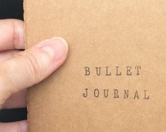 """Carnet de notes A6 avec couverture kraft - """"Bullet Journal"""""""