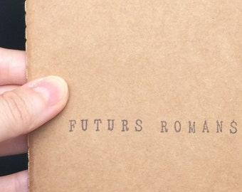 """Carnet de notes A6 avec couverture kraft - Cadeau pour auteurs et passionnés d'écriture - """"Futurs romans"""""""