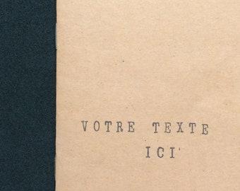 Carnet a6 personnalisable en kraft - Cadeau livre original -  Papeterie - Cadeau personnalisable - Carnet original - Ecriture