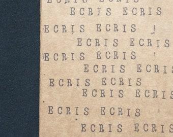 """Carnet de notes A6 avec couverture kraft - Cadeau idéal pour auteurs et passionnés d'écriture - """"Ecris Ecris Ecris"""""""