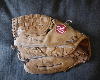 "Vintage Rawlings XFG-12 Baseball Softball Glove LHT 12"" Made USA"