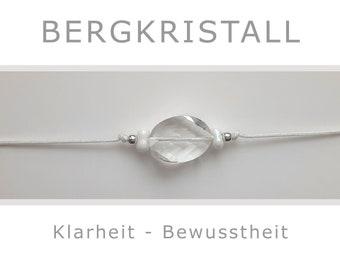 Bracelet - Rock Crystal - with 925-Silver - Yoga - Talisman - Lucky Charm