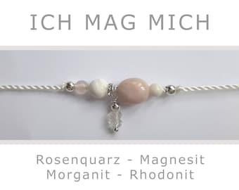 "Bracelet ""I Like Me"" made of gemstones and 925 silver - Lucky Charm Talisman Energy Jewelry Reiki Yoga Themed Jewelry Energy Power"