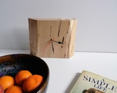 Mantle Mantel clock Handcrafted in a piece of Solid Spalted Beech A One off,Statement piece Organic,Christmas Gift Home Decor Contemporary
