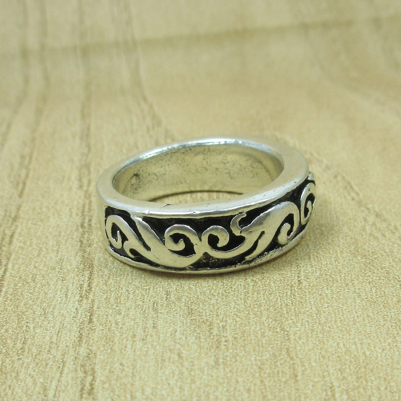 Handmade Ring Antique Vintage Old Silver Band Ring 5.5 us Size