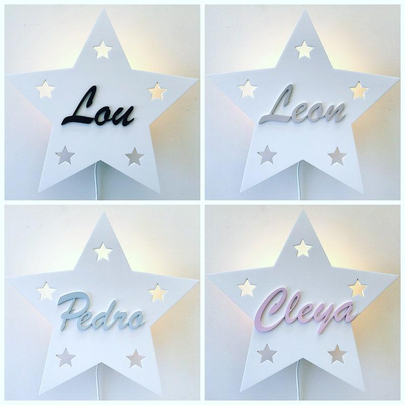 Lampe personnalisée en forme d'étoile - Créatrice ETSY : PinkyKikyDesign