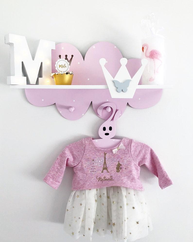 Étagère murale pour petites princesses - Créatrice ETSY : PinkyKikyDesign
