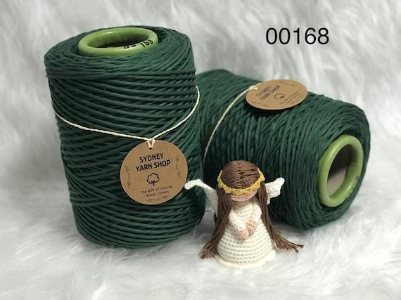 Single Twist 1kg 100/% Cotton Super Soft Cord 3mm Coloured Macrame Cord