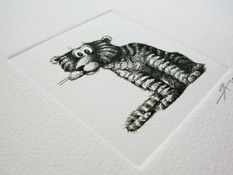 The tiger. Etching. Sergey Yakushev image 0