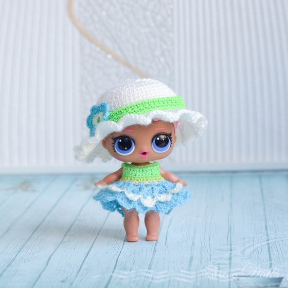 Hat And Dress For Lol Surprise Doll Crochet Miniature Dress Etsy