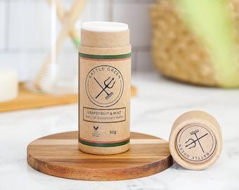 Natural Vegan Deodorant Balm (Grapefruit And Mint) Zero Waste Deodorant, Deodorant Cream, Eco Friendly Gift, Vegan Gift, Christmas Gift