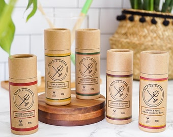 Natural Vegan Deodorant Balm - Zero Waste Deodorant, Vegan Deodorant Cream, Self Care, Plastic Free, Eco Friendly, Aluminium Free