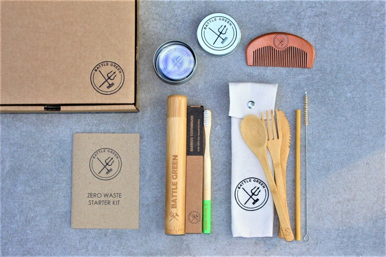 Zero Waste Kit  Travel Kit // Eco Travel Set Vegan Gift image 0