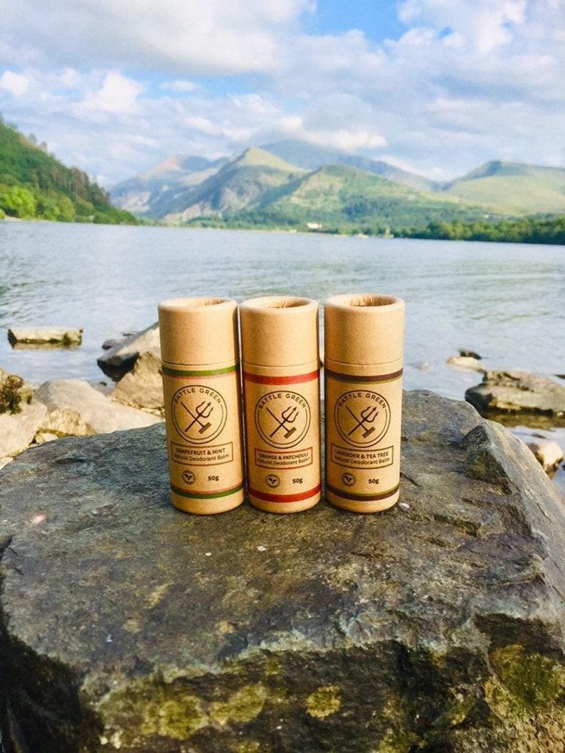 Natural Deodorant Balm in Cardboard Tube   Zero Waste image 0