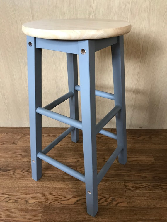 Enjoyable Hand Painted Wooden Bar Stool Bralicious Painted Fabric Chair Ideas Braliciousco