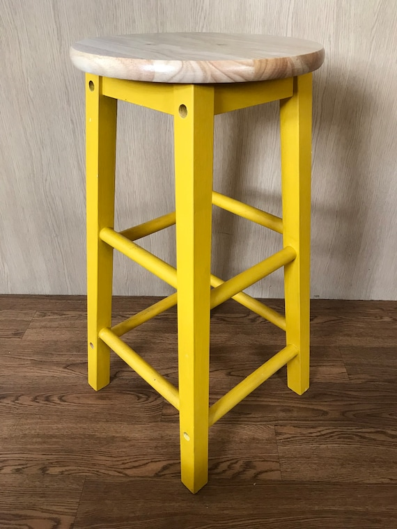 Stupendous Hand Painted Wooden Bar Stool Bralicious Painted Fabric Chair Ideas Braliciousco