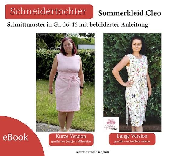 Ebook Kleid Cleo Gr. 36 46 für Anfänger geeignet | Etsy
