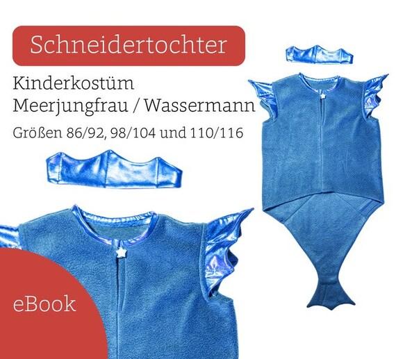 Ebook Kostüm Meerjungfrau Wassermann Schnittmuster | Etsy