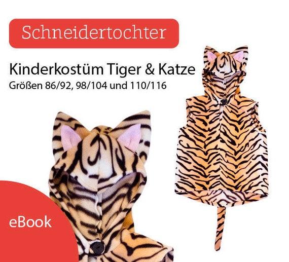 Ebook Kinderkostüm Tiger / Katze Schnittmuster | Etsy