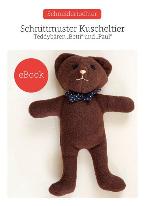 Ebook Teddybär Stofftier Anfänger Schnittmuster Gratis | Etsy