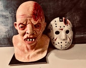 Friday The 13th Part 4 Jason Voorhees  Custom Bust And Mask Cast From Original Molds Hero Set !