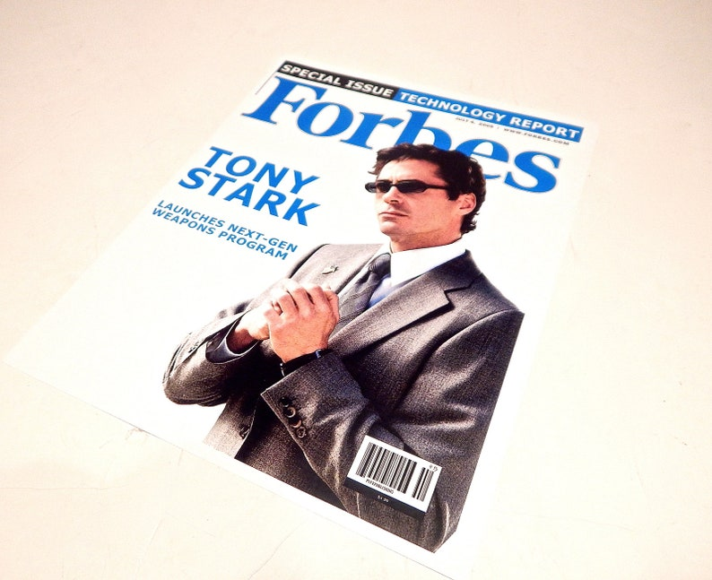 Iron Man Forbes Magazine Cover Replica Stunning Seen In Movie