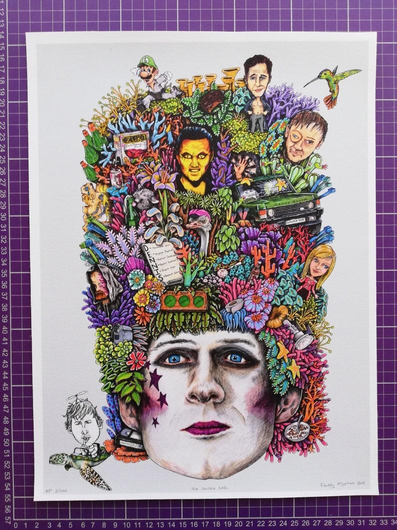 Glenn Howerton Dennis Reynolds Sunny Fan Art It/'s Always Sunny In Philadelphia THE GOLDEN GOD A3 Gicl\u00e9e Canvas Print