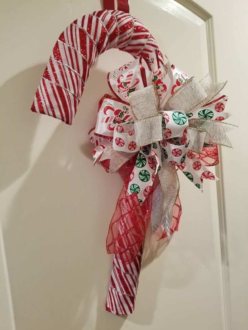 Christmas candy cane door decor