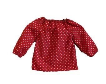 Paper cut pattern tunic shirt VIJONA with tips size 86-164