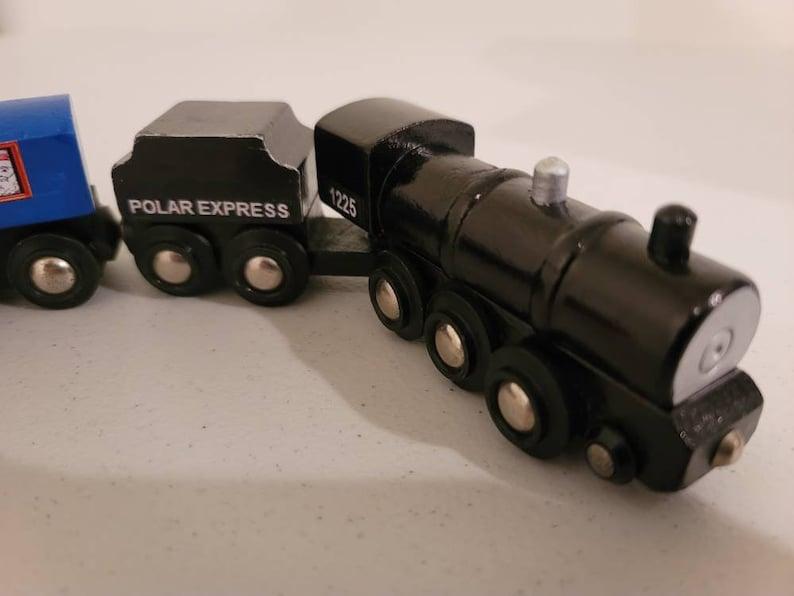Genuine Brio Custom wooden Polar Express Train Works w Thomas train