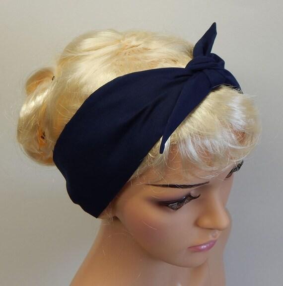 Polka headband retro hair scarf self tie headscarf 50s head