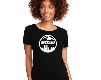 Denver House Music Next Level Fitted Tee