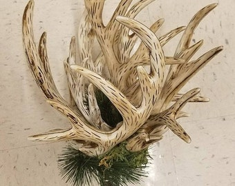 antler tree topper - Rustic Christmas Tree Topper