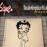 Betty Boop Nurse Vinyl Decal Sticker