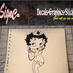 Betty Boop Nurse Vinyl Decal Sticker