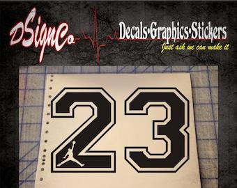 Jumpman 23 Vinyl Decal Sticker