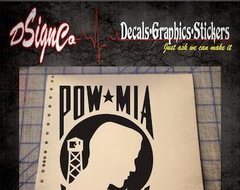 Prisoner of War-POW Vinyl Decal Sticker