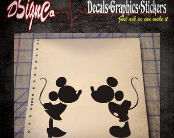 Mickey Kiss Vinyl Decal Sticker