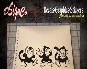 See no Evil Vinyl Decal Sticker