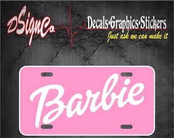 Barbie License Plate