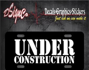 Under Construction License Plate