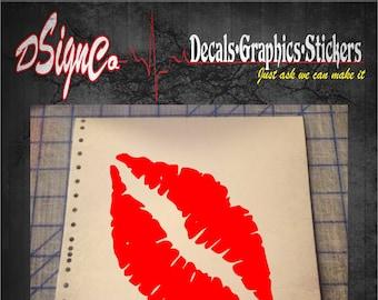 Lips Vinyl Decal Sticker