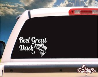 Reel Great Dad Vinyl Decal Sticker