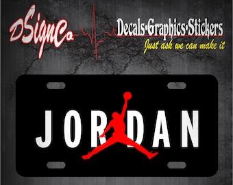 Jumpman License Plate