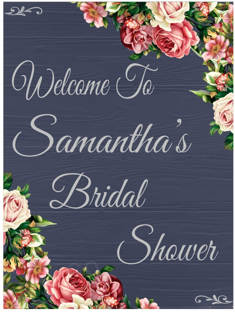 Bridal Shower Sign-Personalized Names and Dates Bridal Shower image 0